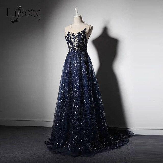 Vestidos para formatura longos azul royal