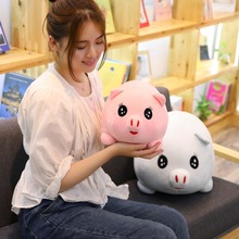 35/55 Cm Soft Pink Pig Adorable Plush Toy Stuffed Cute Animal Lovely Dolls For Kids Appease Babys Room Decoration