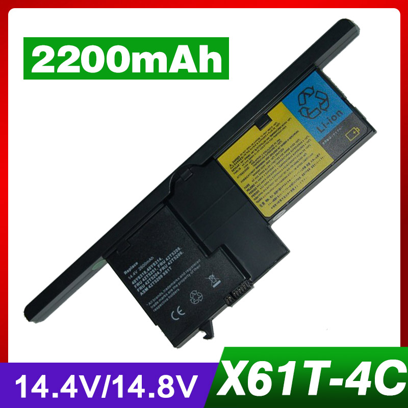 Laptop Battery For Lenovo FRU 42T5204 42T5206 42T5208 ThinkPad X60 Tablet PC 6363 6366 6364 ThinkPad X61 Tablet PC 7762 7767 genuine original laptop battery for lenovo thinkpad p70 series fru 00hw030 ams fb10f46468 15v 6 4ah 96wh 4icr18 65 2