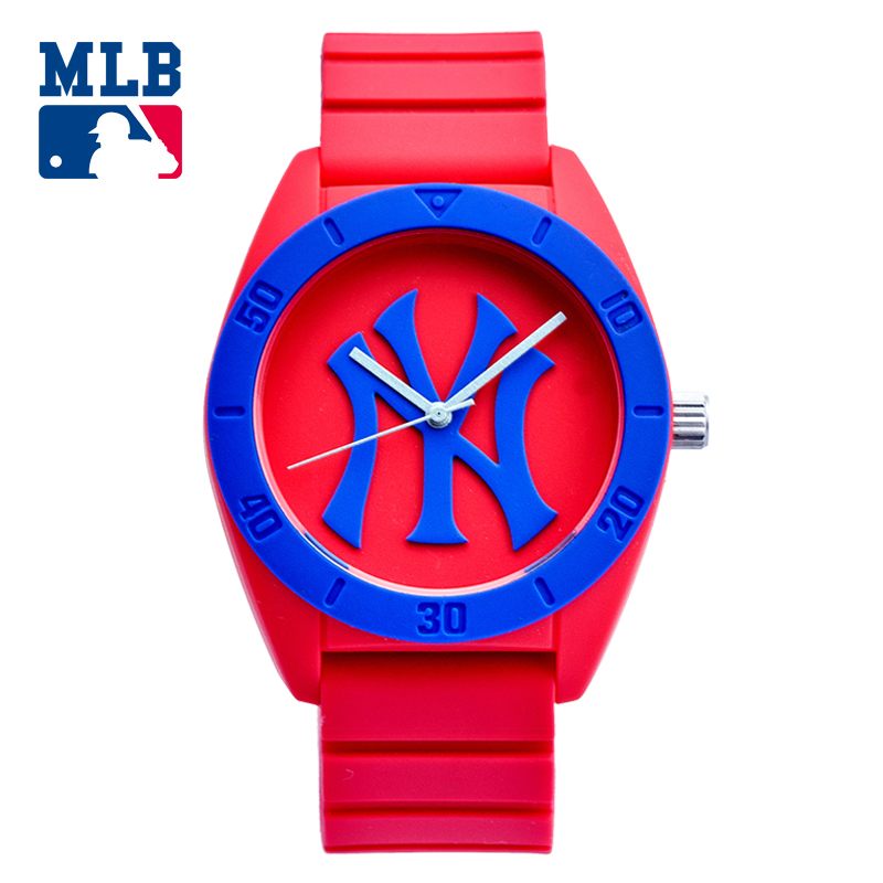 MLB NY Fashion Simple Cool Watches Rubber Waterproof Lover Watches Men Women Quartz Sport Student Wrist Watch D5003 mlb ny fashion luxury wrist watches waterproof luminous hands stainless steel men watch quartz casual sport wrist watch d5014