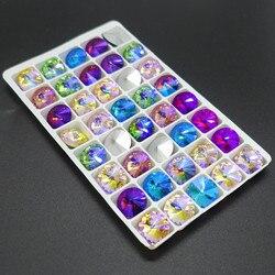 Karışık Renk AB XILION ELEMANLARı Kristal cam Rivoli dağınık boncuklar DIY 12mm14mm16mm18mm