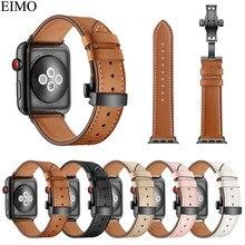 92b0dca8387 EIMO Genuíno Faixa de Relógio Pulseira de Couro para A Apple Iwatch série 4  Hermes 3