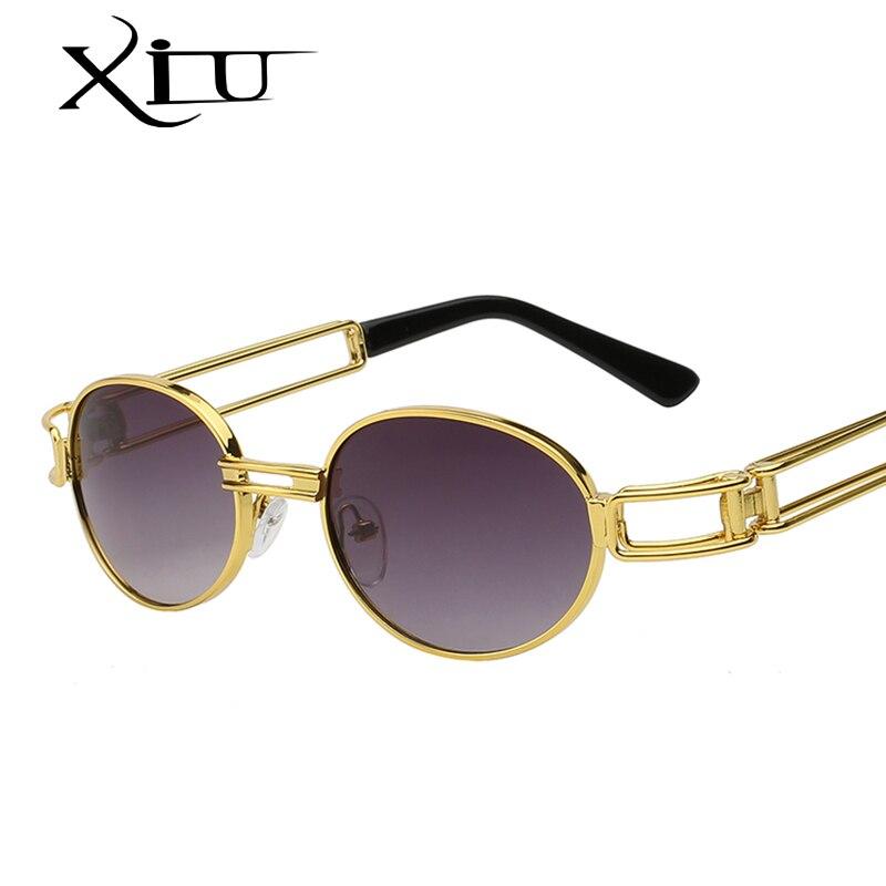 XIU Steampunk Sonnenbrille Klare Linse Gläser Gothic Flat Top Vintage Runde Brille Männer Frauen Luxury Brand Designer Brillen UV400