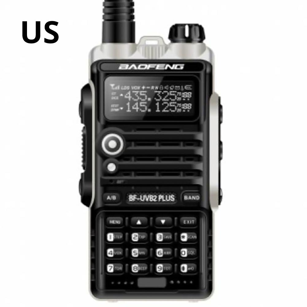 1PCS Baofeng Walkie Talkie BF-UVB2PLUS VHF/UHF Dual Band DCS Ham Two Way Transceiver Portable Durable Sturdy Walkie Talkie