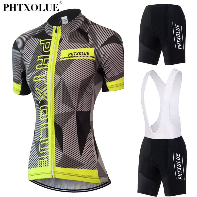 Phtxolue 2017 Cycling Clothing Women Maillot Ciclismo Breathable Bike Bicycle Wear Team Cycling Jersey Set Kit QY0333