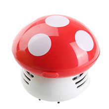 New Functional Desktop Vacuum Cleaner Cartoon Mushroom Mini Dust Collector Household Computer Keyboard Clean Brushes(China)