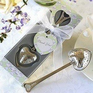 Tea Time Heart Tea Infuser Wedding Favors+100sets/Lot+Free Shipping