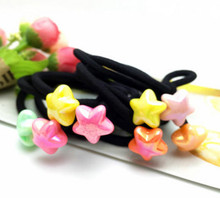 free  shipping 2017 New hair circle AB color beads beating hair rope rubber band