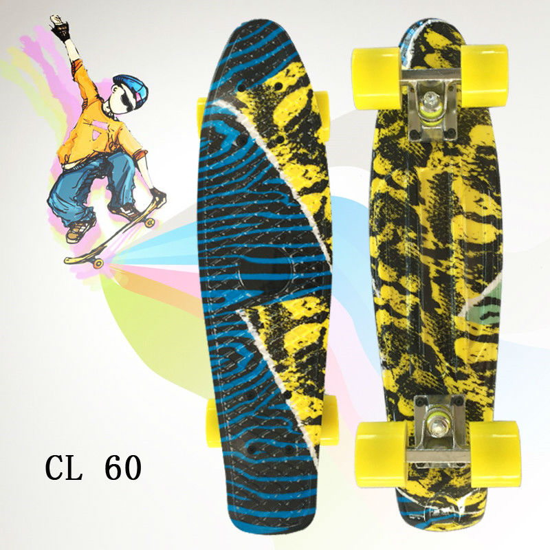 Complete Peny Skateboard 22 Mini Plastic Cruiser Boy Girl Long Board Skateboarding hot peny board skateboard wheels complete retro girl boy cruiser mini longboard skate fish long board skate wheel pnny board 22