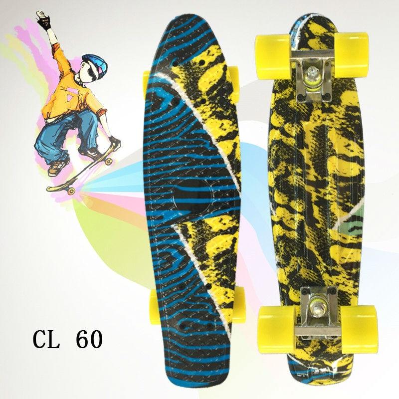 Image 2 - ミニクルーザー omplete スケートの四輪スケートボード大人 & 子供小さなスケートボード peny ボードバナナボード -    グループ上の スポーツ & エンターテイメント からの スケートボード の中