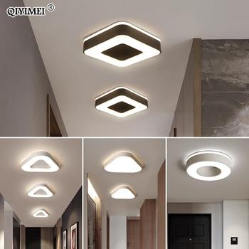 Nowy projekt lampa sufitowa LED korytarz galeria sztuki dekoracja przednia lampa balkonowa ganek biały czarny Lamparas De Techo Plafondlamp w Oświetlenie sufitowe od Lampy i oświetlenie na