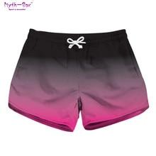 Summer Women Beach Shorts Drawstring Pants Running Gym Gradient Color Surf Board Shorts High Quality Pocket Travel Surf Swimwear