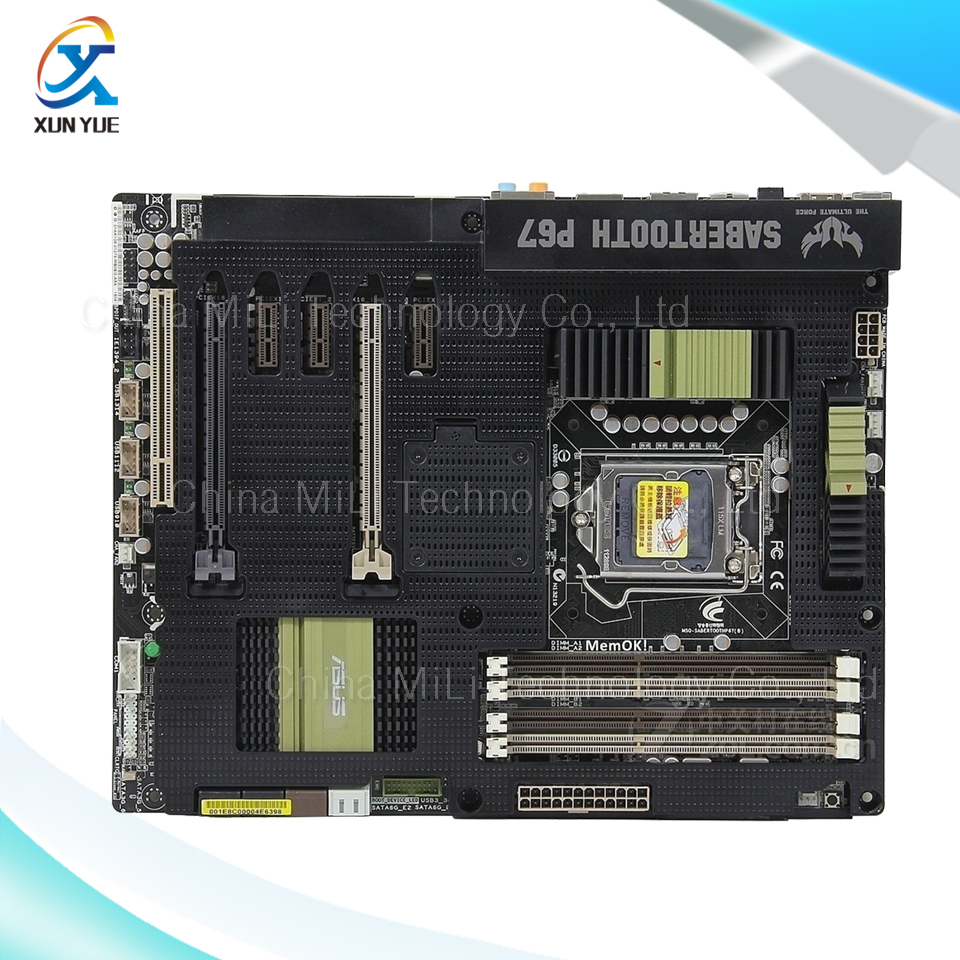 For SaberTooth P67 Original Used Desktop Motherboard Include Thermal Armor For Intel P67 LGA 1155 For i3 i5 i7 DDR3 32G ATX