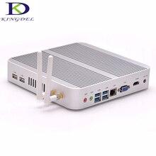 Бесплатная доставка безвентиляторный мини-ПК Nettop 4 ГБ Оперативная память Core i3 Dual Core Quad темы Wi-Fi HDMI USB 3.0 VGA windows 7 металлический корпус