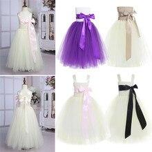 Cute Strapless Tulle Girls Beige Dress