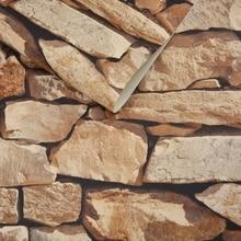 3D Vintage Wall Paper Waterproof  Rock Stone Vinyl