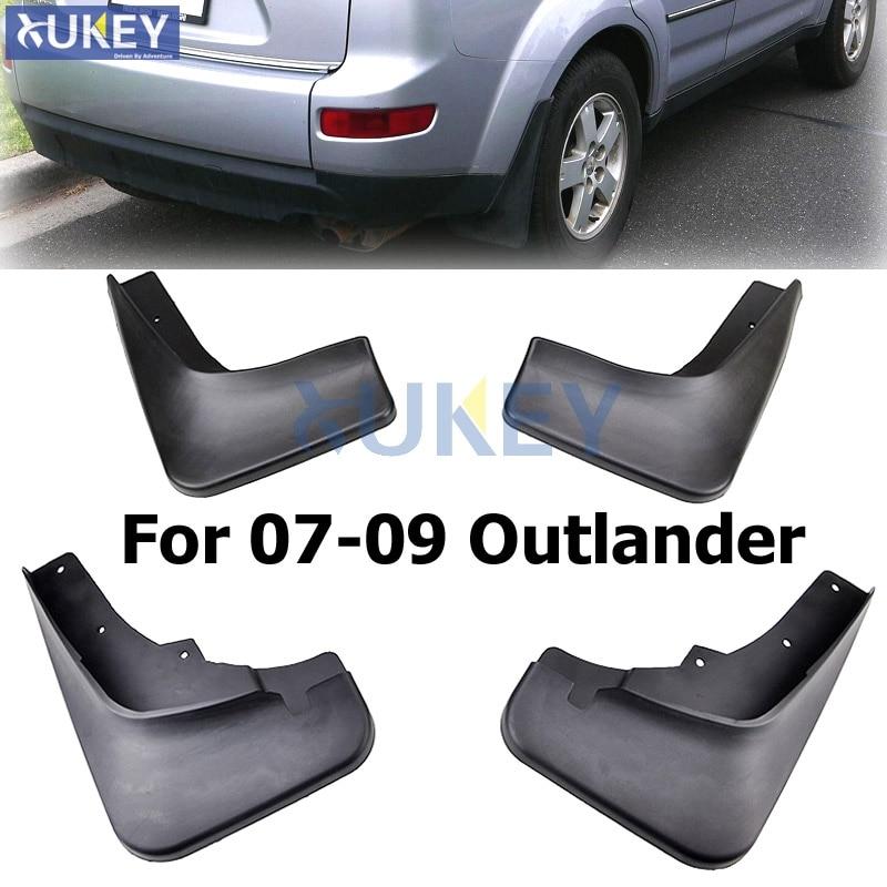 For Mitsubishi Outlander 2007 2008 2009 Front Rear Molded Car Mud Flaps Mudflaps Splash Guards ...
