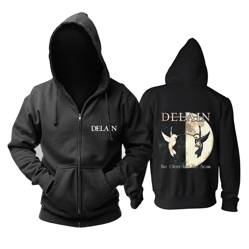 Bloodhoof Delain chwałę i szumowiny progresywny Metal Power metalu mucis nowy czarna bluza z kapturem rozmiar azjatycki w Bluzy z kapturem i bluzy od Odzież męska na  Grupa 1