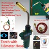 Self Ignition Braze Welding Torch 1 5m Hose CGA600 Connection Suitable For Propane MAPP Catridge Cylinder