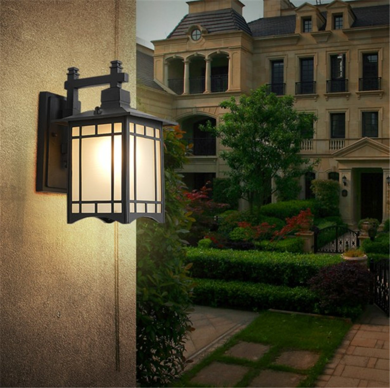 Image 2 - Retro Outdoor Lighting Wall Lamps Porch Lights Japanese Lantern Waterproof Corridor Garden Wall Light Outdoor Luminaire-in Outdoor Wall Lamps from Lights & Lighting