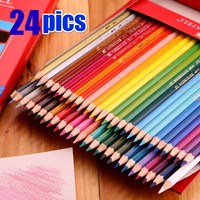 12 24 36 48 Four Kind Can Choose Colors Safe Non Toxic Water Soluble Colored Pencil