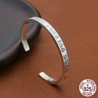S925 sterling silver men's bracelet personality fashion classic jewelry retro cross opening couple models 2018 new send lover's