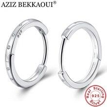 75177f3cb35d Ziz BEKKAOUI estilo Simple Real 925 pendientes de aro de plata de ley para  mujeres joyería de plata de moda Bijoux regalo encant.