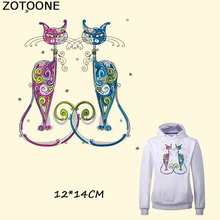 ZOTOONE Iron on Transfer Patch Cat Washable Clothes Decoration Print on T-Shirt New Design Diy Accessory Parches Para La Ropa F f carulli variations on la marseillaise op 330