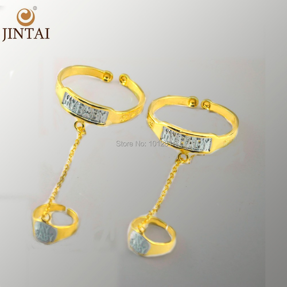 New Arrival gold color Baby Bangles With Ring For childJewelry ...