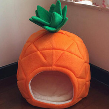 Cute fashion dogs cats Pineapple house doggy winter warm beds supplies puppy nest pet dog cat