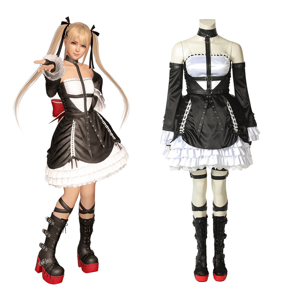 Cosplaylegend Game DEAD OR ALIVE 6  Marie Rose Cosplay adult costume all size custom made outfit with shoes