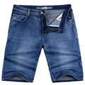 Бесплатная доставка плюс размер известный бренд 2017 лето xxl 4xl 5xl 6xl 8XL размер 38-50 Джинсовые прямые шорты брюки мужчины пляжные шорты