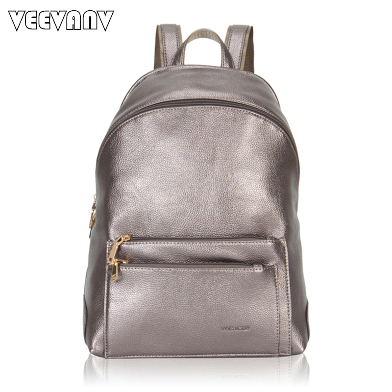 2017 VEEVANV Brands Women Backpack High Quality Leather Shoulder Bags Laptop School Backpacks for Girls Casual Travel Bag Female