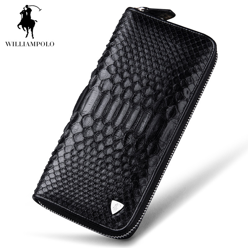 2017 NEW Luxury Brand 100% Snakeskin Alligator Pattern  Fashion Business Men Wallets Long Black Men Purse Male Men Wallet  Bag радиоуправляемый вертолет wl toys v911 copter 2 4g