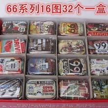 Free ship!1lot=32pc! 66 route series Mini cover Iron tin case / can/ metal
