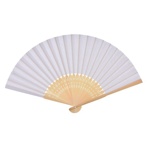 30 PCS Folding Paper Hand Fan Custom Halloween Ladies Baby Shower Wedding Favors Gift Birthday Party Decoration(white)