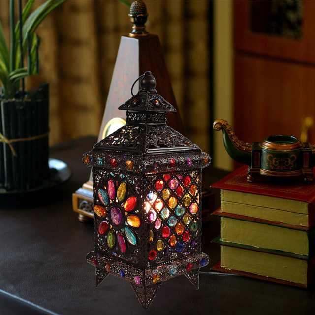 Captivating Bohemian Style Fashion Rustic Style Table Lamp Lantern Lamps Decoration  Table Lamp Bedroom Lamp Free Shipping