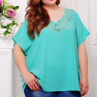 5XL 6XL Short Sleeve Hollow Out V neck Big Size Women Clothing T shirts for Women Fashion Harajuku Top Summer Plus Size T Shirt
