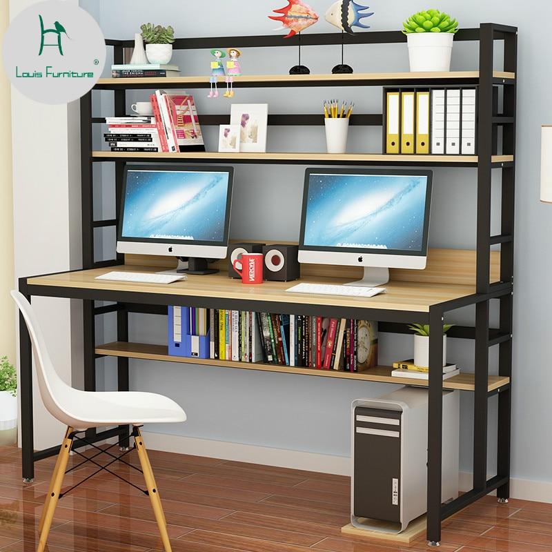 Louis Fashion Computer Desks Home Minimalist Bookshelf And Bookcase