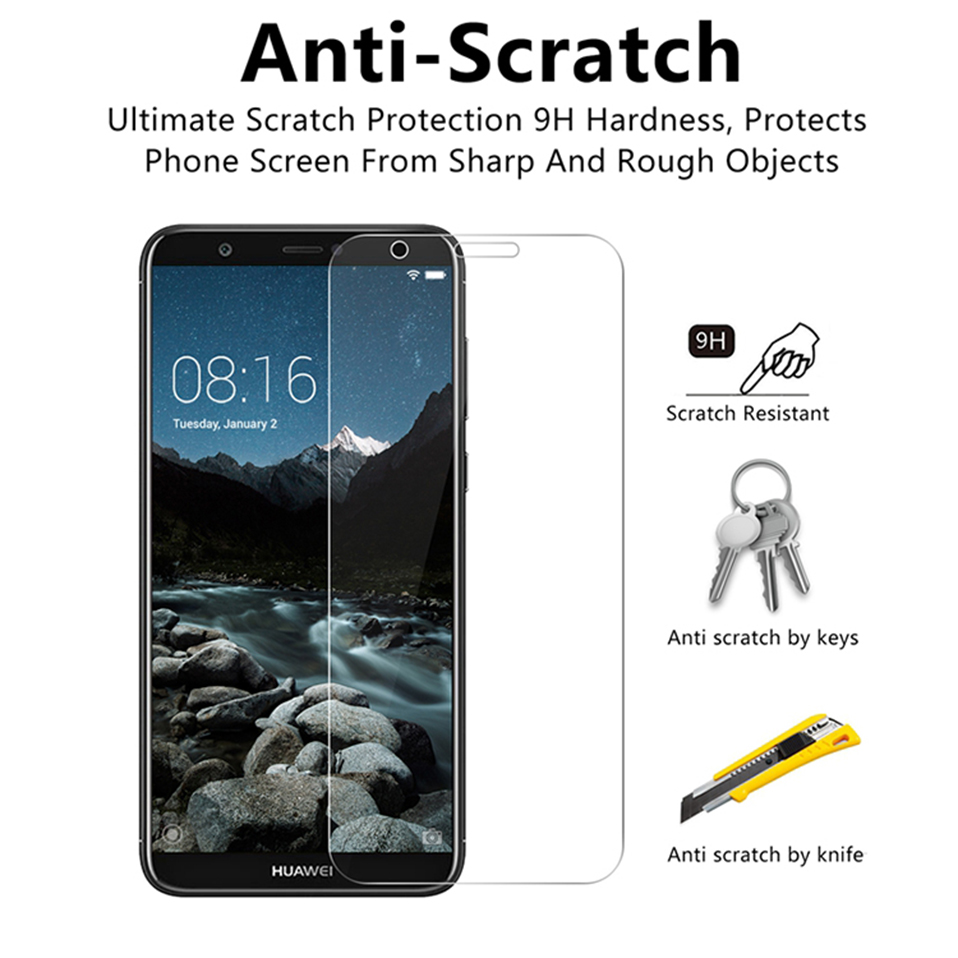 tempered glass screen protector for huawei honor 8 9 10 lite 8x 7a (2)