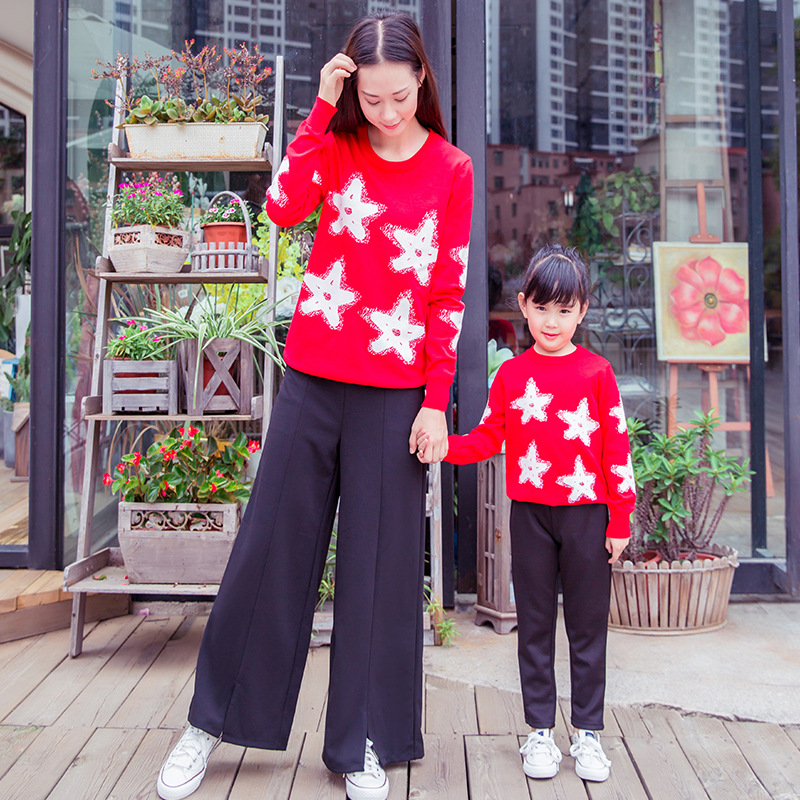2019 Christmas family look matching mother and daughter clothes children sweaters baby cardigans pullover mommy and me clothes2019 Christmas family look matching mother and daughter clothes children sweaters baby cardigans pullover mommy and me clothes