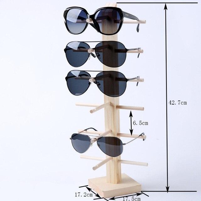 หลายชั้นไม้แว่นกันแดดการแสดงผลตะแกรงแว่นตาแสดงยืนเครื่องประดับH Olderสำหรับหลายคู่แว่นตาตู้โชว์