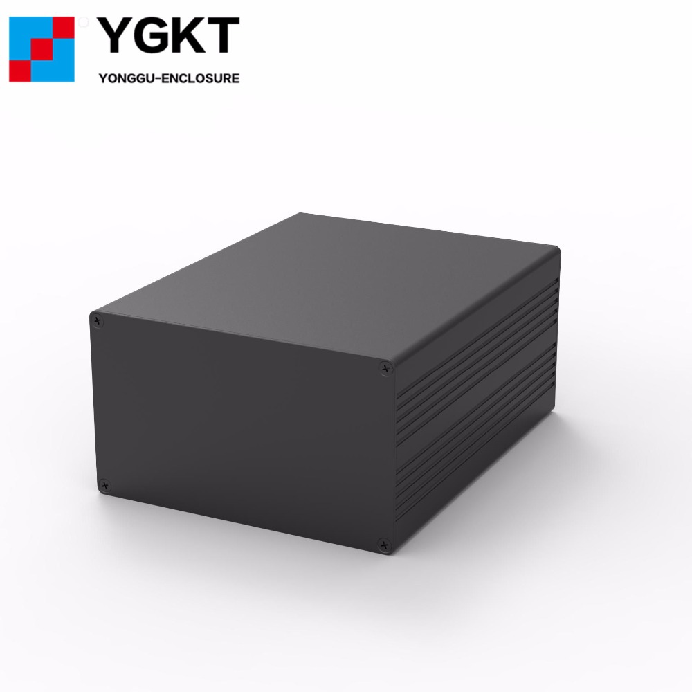 YGS-016 127*75-165mm (WxH-D) electrical junction box enclosure outdoor electrical box aluminum pcb instrument box enclosure aluminium housing metal electronics box diy aluminum enclosure ygs 036 96 45 5 140mm wxh d