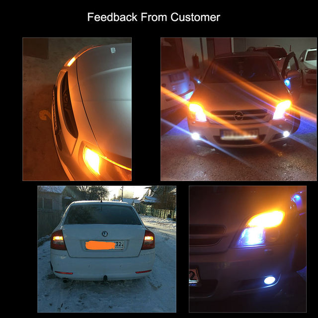 YM E-Bright 2PCS 1156 P21W BA15S PY21W BAU15S LED Canbus 3014 S25 Error FREE Car Turn Lights 12V DC NO Hyper Flash Amber White