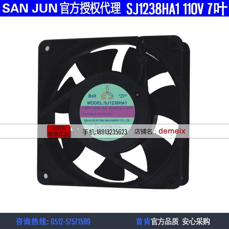 Nouveau Suntronix SAN JUN SANJUN SJ1238HA1 110 V 0.28A 12038 7 ventilateur ventilateur de refroidissement