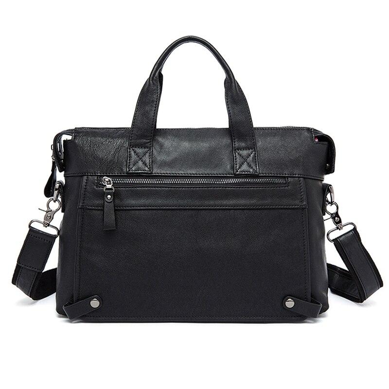 WESTAL Messenger Bag hommes en cuir véritable hommes sacs à bandoulière en naturel homme porte-documents ordinateur portable sac à bandoulière pour hommes 9103 - 2