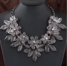 MX0489 Jauna modes kaklarota sievietēm Vintage Bohēmijas apkakles ķēdes kaklasaite Maxi kristāla ziedu kaklarotas un kuloni Bijoux