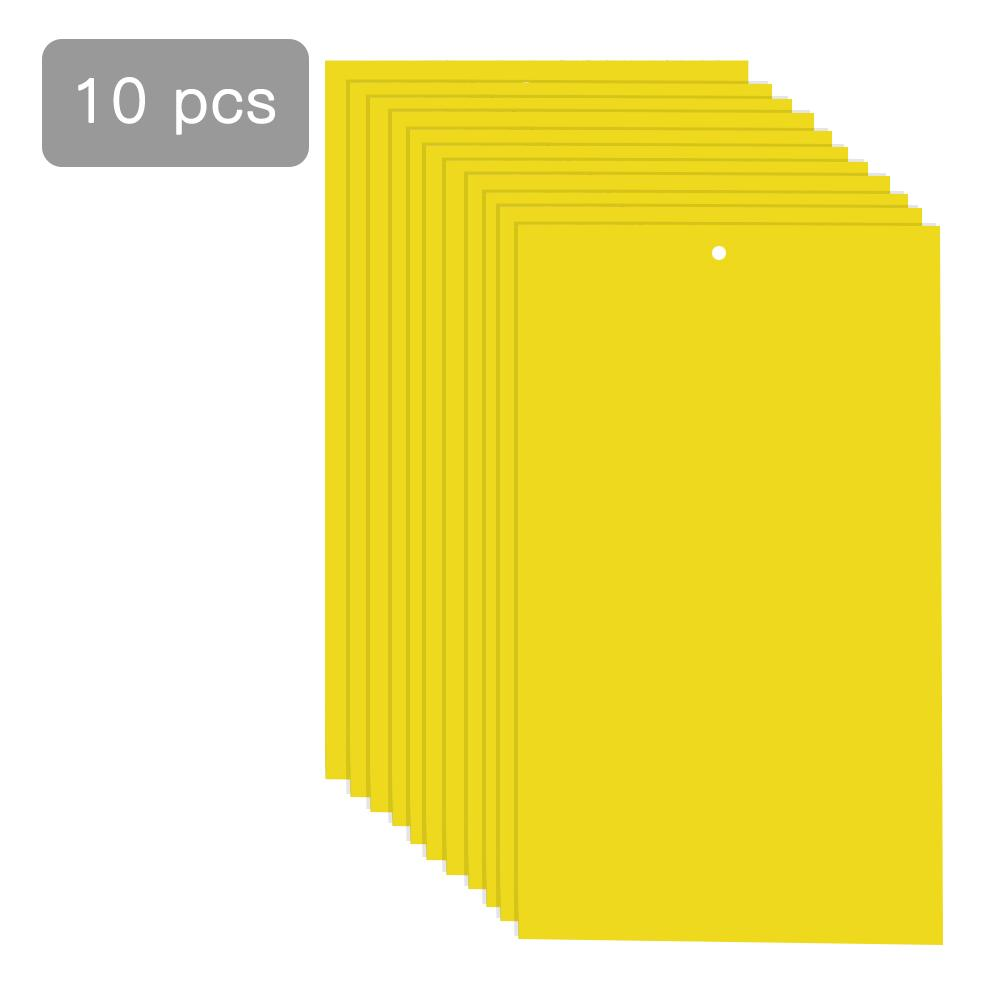 10 PCS Double-sided Yellow Plate Trap Board Bait Plate Flies Double Sided Traps Insect Catcher Bait Insect Sticky