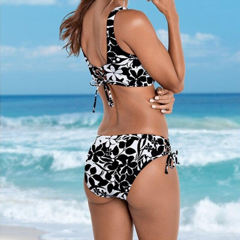 Z-LAI Sexy Leopard Print Bikini push up swimwear women Low Waist Thong Swimsuit Female bathing suit plus size bikini set biquini 1