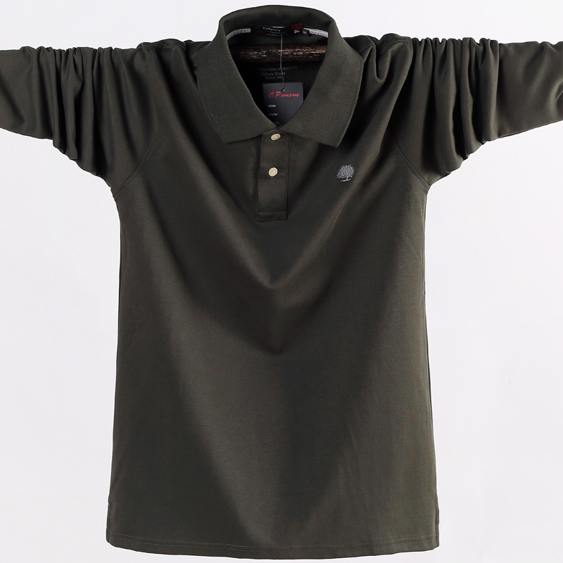 Men Polo Shirt Men's Business Work Casual Cotton Male Top  1